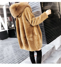 Genuine Wool and Fox Fur Coat - Bella LaVie Collection