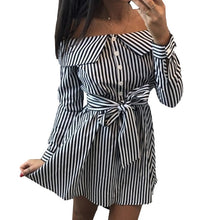 Long Sleeve Off The Shoulder Shirt Dress - Bella LaVie Collection