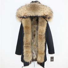Genuine Fox Fur and Raccoon Hooded Collar Stylish Coat - Bella LaVie Collection