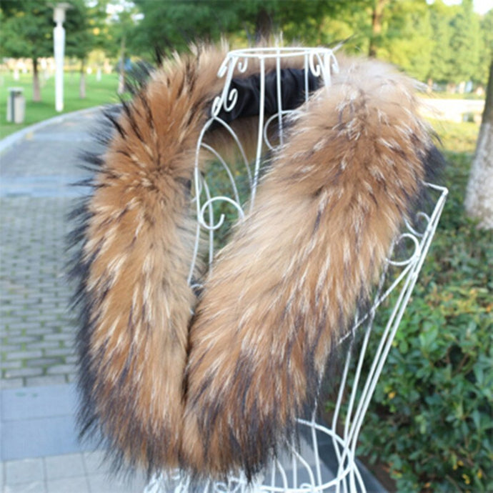 100% Genuine Raccoon Fur Collar
