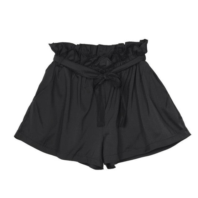 JECKSION Women Casual Design High Waist Loose Fashionable Shorts Female With Belt - Bella LaVie Collection