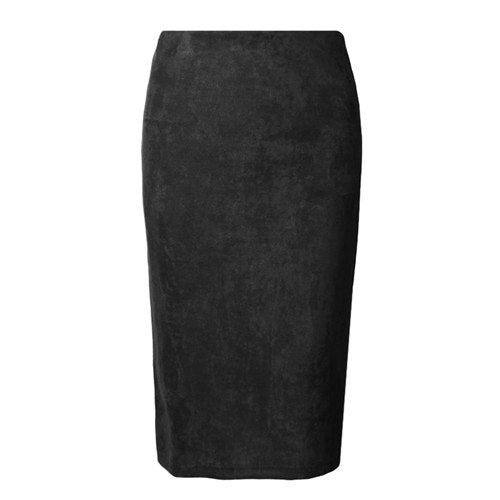 Vintage Womens Suede Leather Bandage Skirt 2017 Winter Bodycon Pencil Skirts Jupe Longue Femme High Waist Ladies Boho Midi Skirt - Bella LaVie Collection