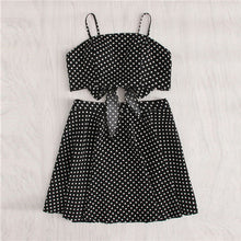 SHEIN Polka Dot Knot Back Crop Cami And Skirt Set 2018 Summer Women Spaghetti Strap Sleeveless Backless Zipper 2 Pieces Sets - Bella LaVie Collection