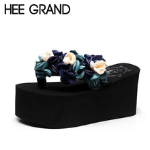 HEE GRAND Flower Decoration 2018 Women Wedge Slide High Heel Comfortable Wearing Women Fashion Shoes for Beach &and Sea XWD6580 - Bella LaVie Collection