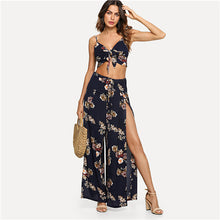 SHEIN Multicolor Vacation Boho Bohemian Beach Floral Print Cami Top And Palazzo Pants Set Summer Women Sexy Twopiece - Bella LaVie Collection