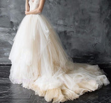 Gorgeous Soft Tulle Skirt With A Sweeping  Train Gown - Bella LaVie Collection
