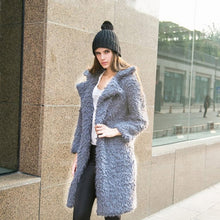 Fluffy Faux Lambs Wool Coat - Bella LaVie Collection