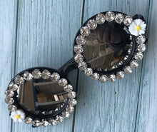Crystal and Diamond Styled Handmade Round Mirrored Sunglasses E - Bella LaVie Collection
