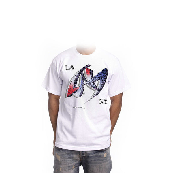LA.NY short sleeve white t-shirt