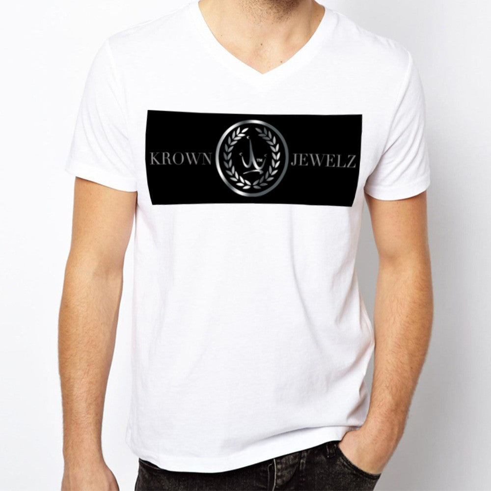 Krown jewelz short sleeve white t-shirt