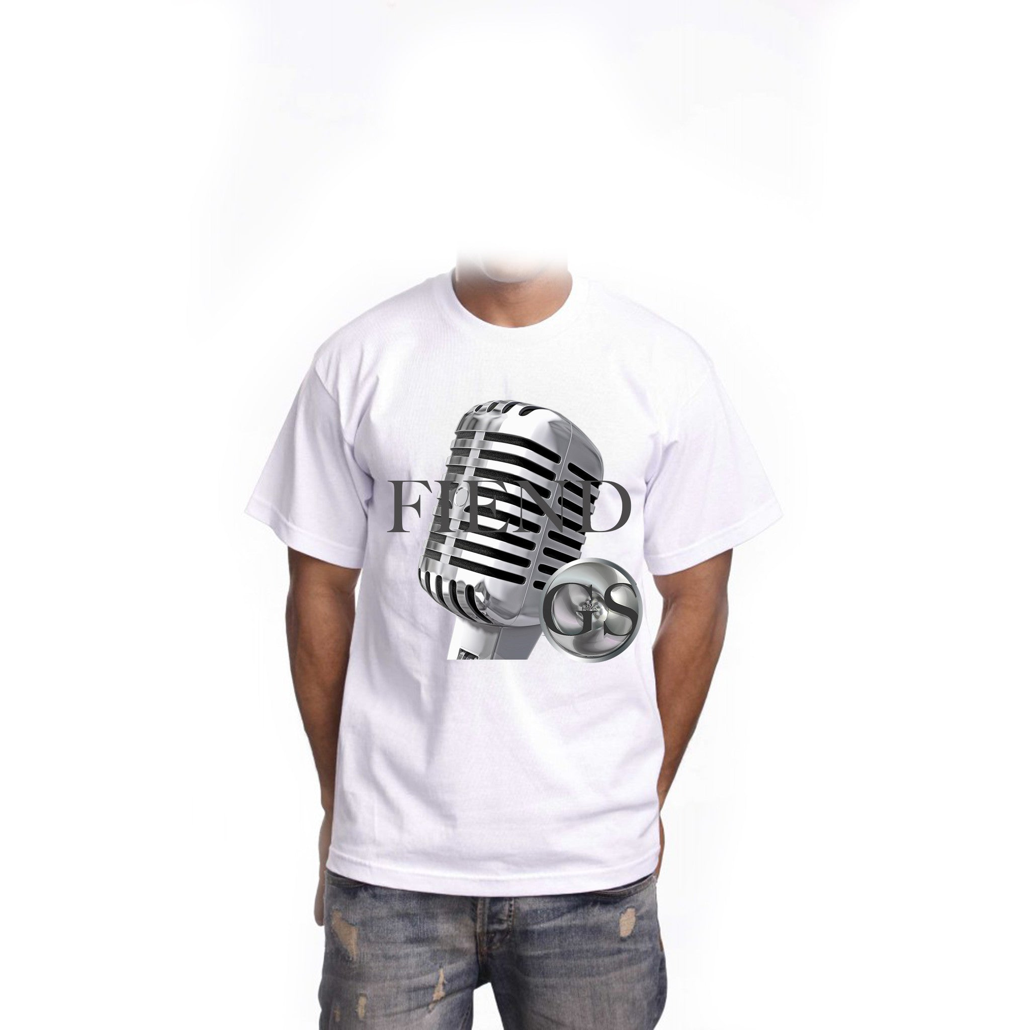 GS microphone fiend short sleeve white t-shirt