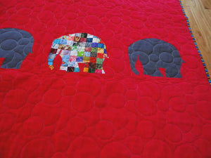 Elmer the Patchwork Elephant Baby Quilt