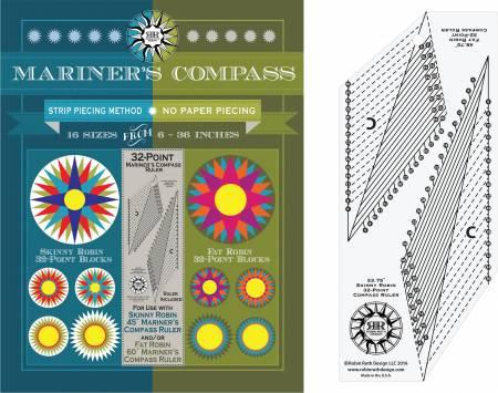 32 Point Mariner's Compass Book and Ruler Set