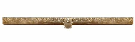 7-1/2in Wallet Clasp Embossed Yellow Gold
