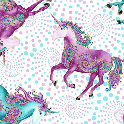 All Over Unicorns Pastel Metallic