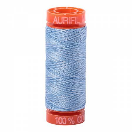 Aurifil 50 wt Blue Variegated