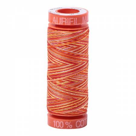 Aurifil 50 wt Orange Variegated