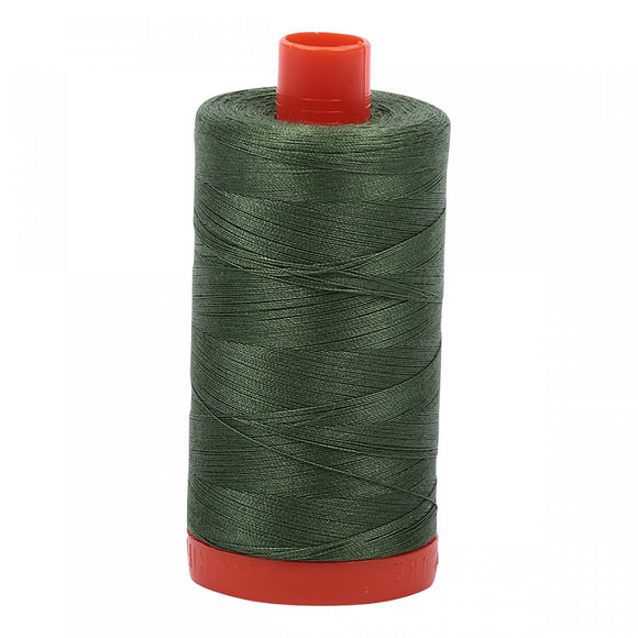 Aurifil 50 wt Thread Very Dark Grass Green