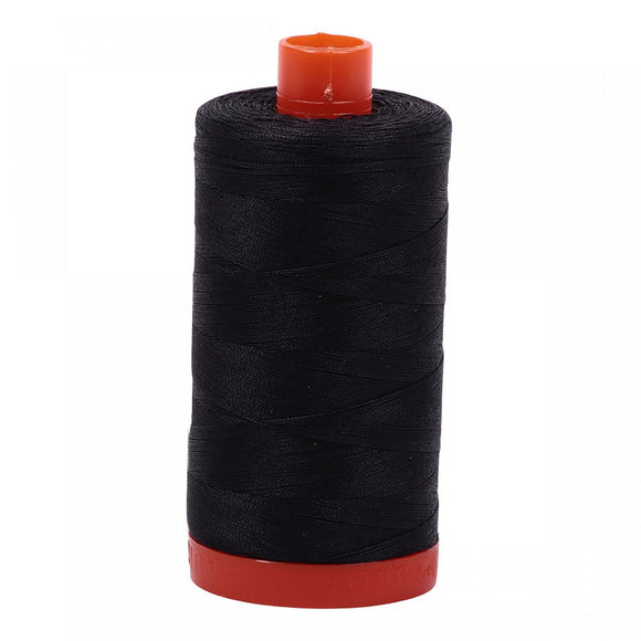 Aurifil 50 wt Thread Very Dark Grey