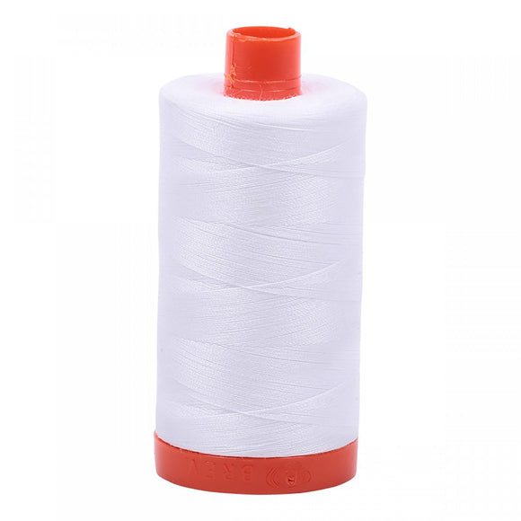 Aurifil 50 wt Thread White
