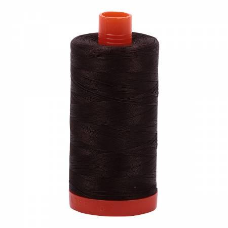 Aurifil 50 wt Very Dark Bark