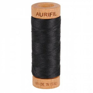 Aurifil 80 wt Thread Very Dark Grey