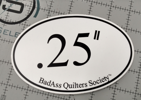 Badass Quilter Vinyl Car Decal .25