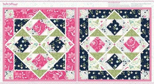 Boho Blooms Quilt Panel