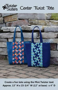 Center Twist Tote Pattern