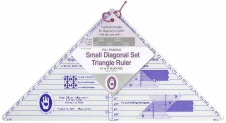 Diagonal Set Triangle Ruler 2 1/2 - 10