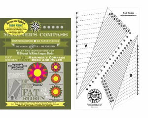 Fat Robin 16 Point Mariner's Compass Book and Ruler Combo