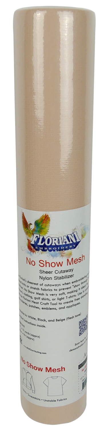 Floriani No Show Fusible Nylon Mesh White 20