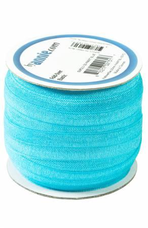 Fold Over Elastic Parrot Blue