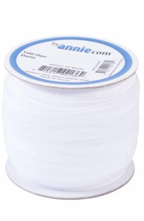 Fold Over Elastic White