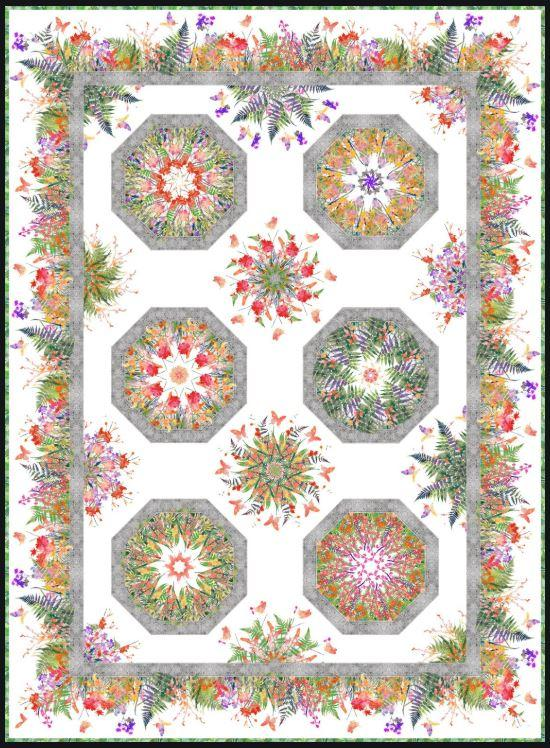 Garden of Dreams Kaliedoscope Quilt Kit