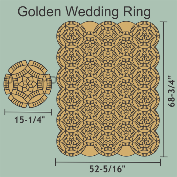 Golden Wedding Ring Paper Pieces