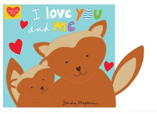 Hug & Love I Love You and Me Book Panel