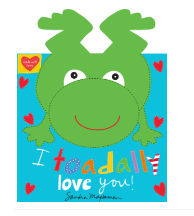 Hug & Love I Toadally Love You  Book Panel