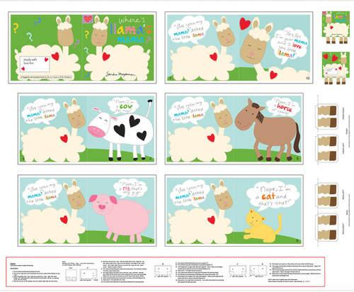 Hug & Love Llama Book Panel