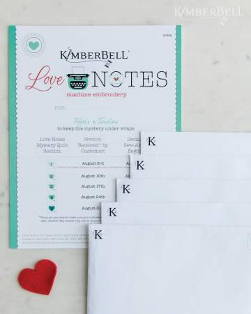 Kimberbell Love Notes Mystery Quilt - Embroidery