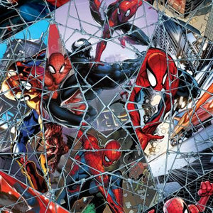 Marvel Spiderman Comic Web Mosaic Digital