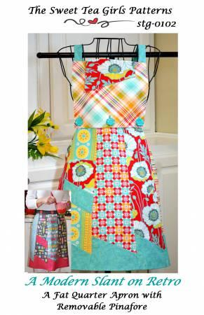 Modern Slate On Retro Apron Pattern