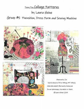 Pincushion, Dress Form, Sewing Machine Collage Pattern
