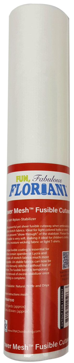 Power Mesh Fusible Cutaway Natural 12
