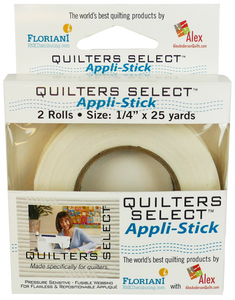 "Quilters Select Appl-Stick 1/4"" x 25 yds"