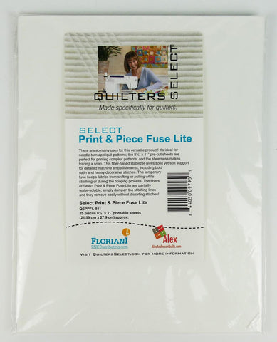 Quilters Select Print & Piece Fuse Lite