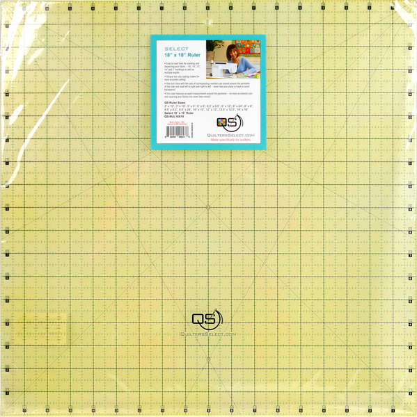 "Quilters Select Quilting Ruler 18"" x 18"""
