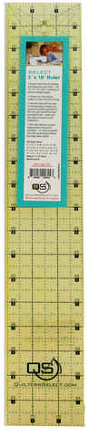 "Quilters Select Quilting Ruler 3"" x 18"""
