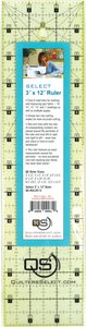 "Quilters Select Quilting Ruler 3"" x 12"""