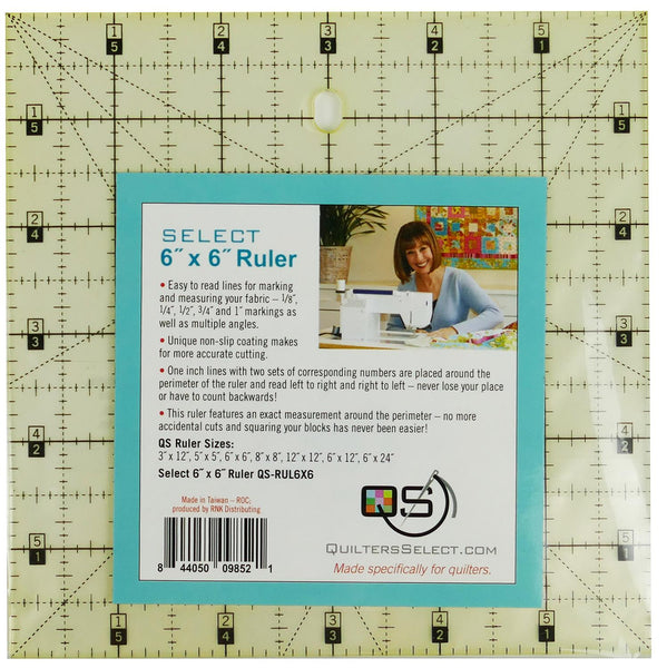 "Quilters Select Quilting Ruler 6"" x 6"""